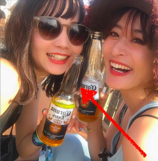 NANAMI(堀北真希の妹)お酒写真