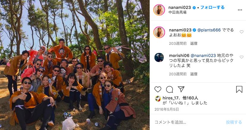NANAMI(堀北真希の妹)お祭り写真