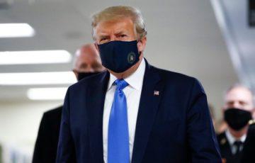 トランプ大統領のマスク姿
